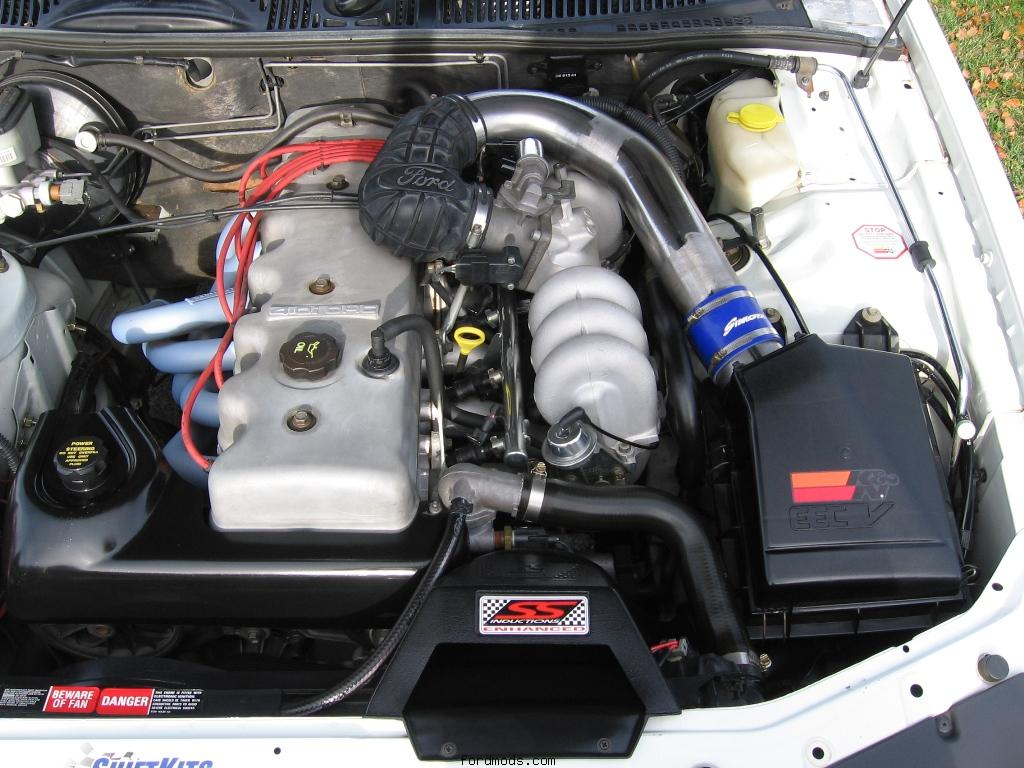 Engine Bay with Intake mods