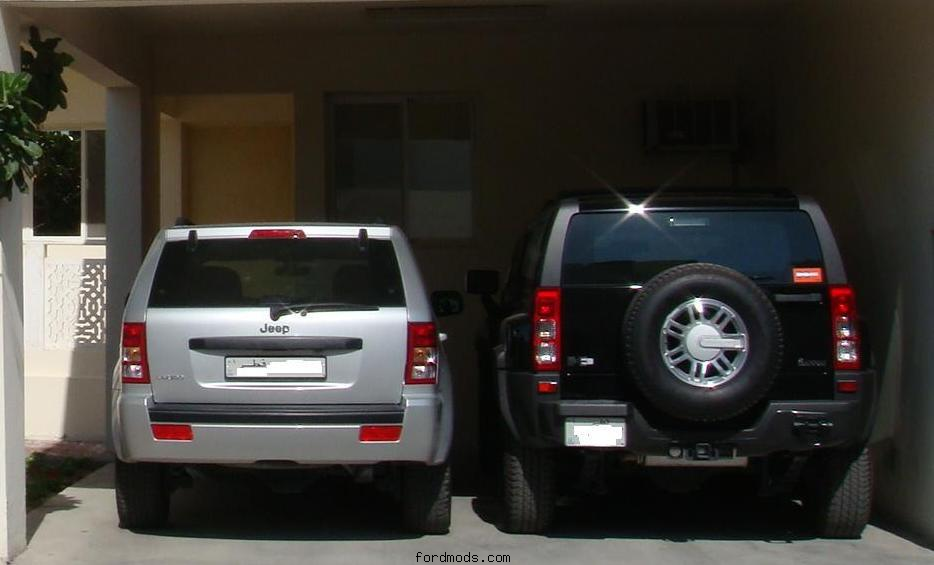 Grand Cherokee and H3. I share the Jeep with my dad.