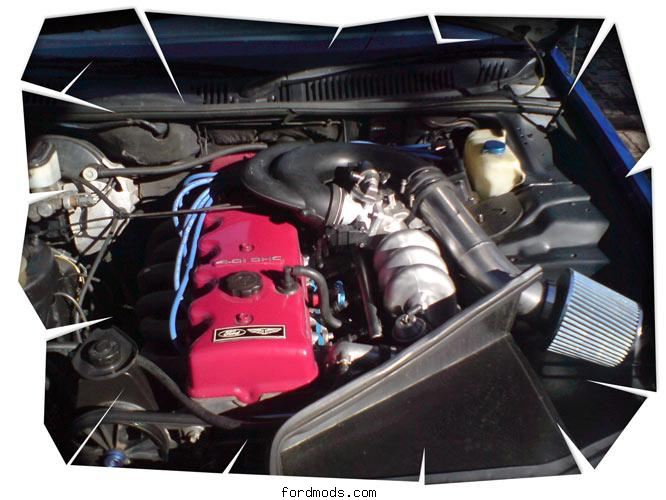 Engine bay as at August 2009.