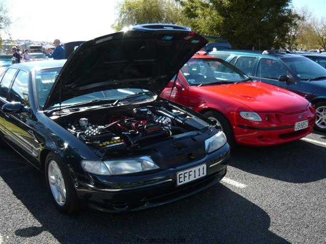 My Fairmont next to Dad's EF XR6 (Auckland AFD 2010)