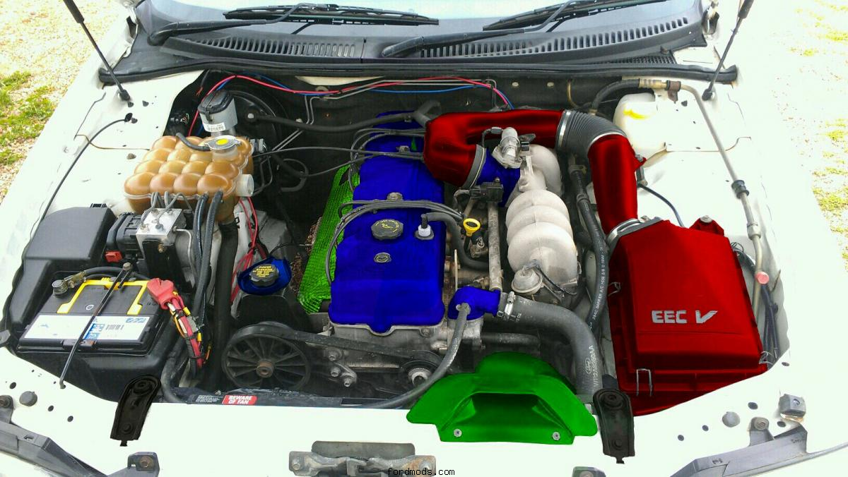 Engine bay Photoshop done on mobile phone