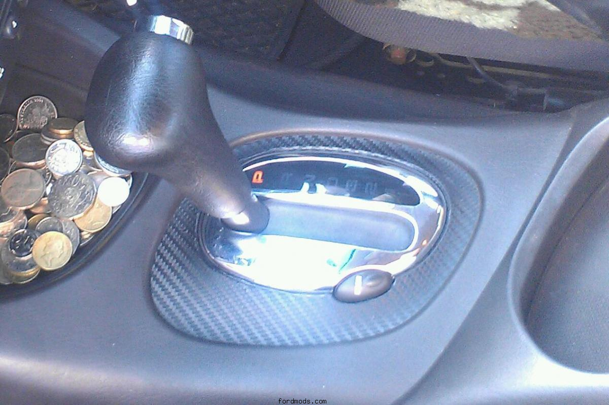 Shifter in carbon and chrome