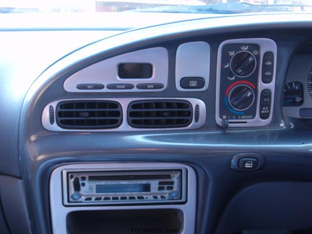 Painted n cleared dash