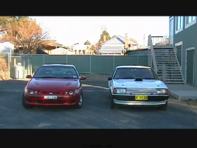 two v8 falcons\