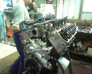 nearly done (my engine guy in the background)