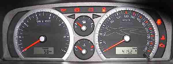 The BA XR Series Instrument Cluster Switched Off