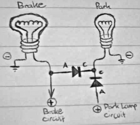 How to add the Diodes to the Brake Circuit