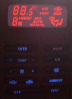 The EF Falcon Climate Control at Night time, with the Red LCD Conversion