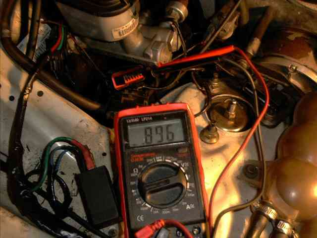 A Multimeter connected to the Cruise Control Module for Testing Purposes