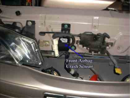 The front Mounted Airbag crash sensor