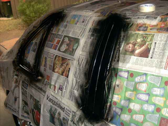 Applying the Ford Black Pearl Coat