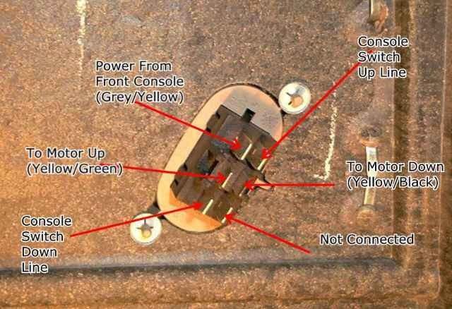 Wiring Information for the Back Door Window Switches